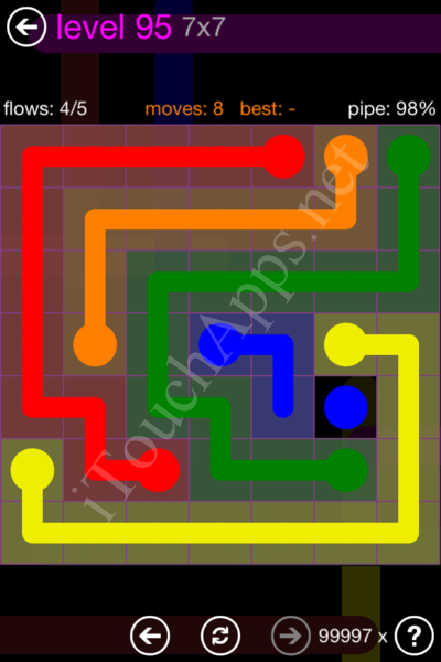 Flow Game 7x7 Mania Pack Level 95 Solution