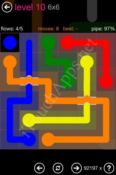 Flow Bridges Classic Pack 2 6x6 Level 10 Solution