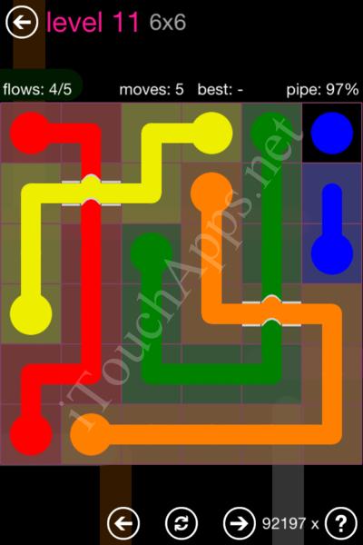 Flow Bridges Classic Pack 2 6x6 Level 11 Solution