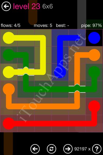 Flow Bridges Classic Pack 2 6x6 Level 23 Solution