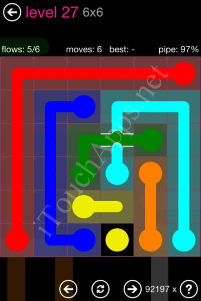Flow Bridges Classic Pack 2 6x6 Level 27 Solution