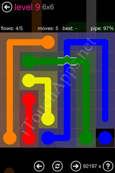 Flow Bridges Classic Pack 2 6x6 Level 9 Solution