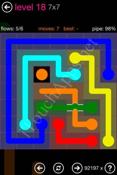Flow Bridges Classic Pack 2 7x7 Level 18 Solution