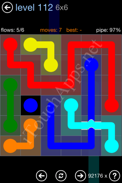 Flow Bridges Rainbow Pack Level 112 Solution