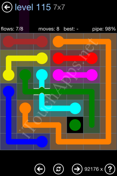 Flow Bridges Rainbow Pack Level 115 Solution