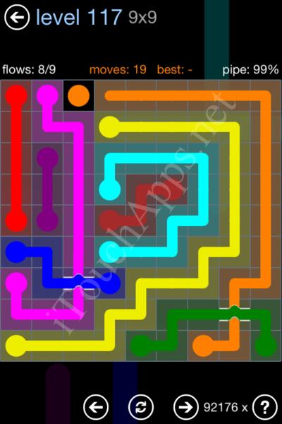 Flow Bridges Rainbow Pack Level 117 Solution