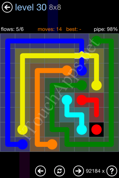 Flow Bridges Rainbow Pack Level 30 Solution