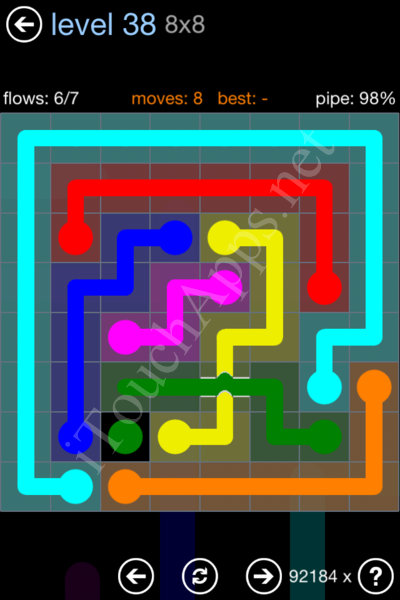 Flow Bridges Rainbow Pack Level 38 Solution
