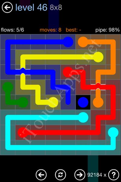 Flow Bridges Rainbow Pack Level 46 Solution
