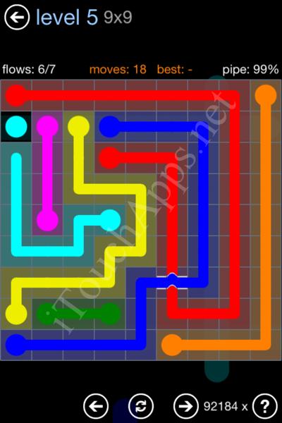 Flow Bridges Rainbow Pack Level 5 Solution