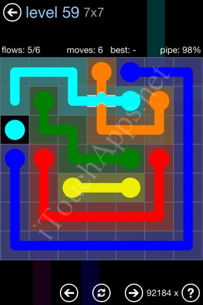 Flow Bridges Rainbow Pack Level 59 Solution