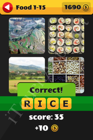 What's That Word Food and Drinks Level 1-15 Solution