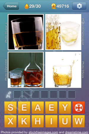What's the Word Liquids Level 29 Solution