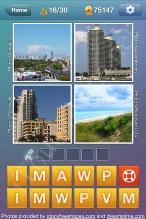 What's the Word US States and Cities Level 16 Solution
