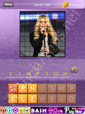 Who's the Celeb Level 134 Answer