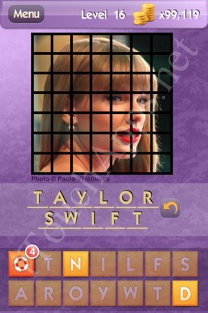 Who's the Celeb Level 16 Answer