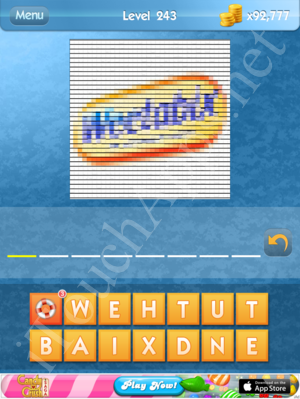 level 243 whats the word