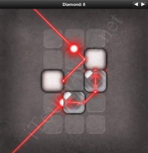 Lazors Diamond 8 Solution