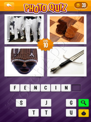 Photo Quiz Sports Pack Level 10 Solution