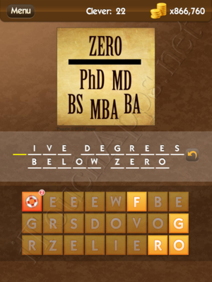 What's the Saying Clever Level 22 Answer