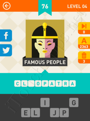 Icon Pop Mania Level Level 4 Pic 76 Answer