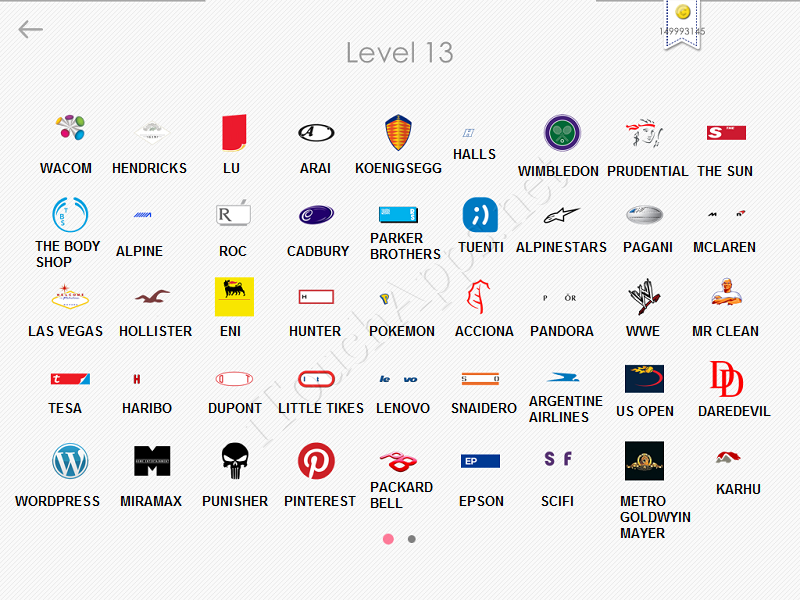 logos quiz answers: level 13 part 1