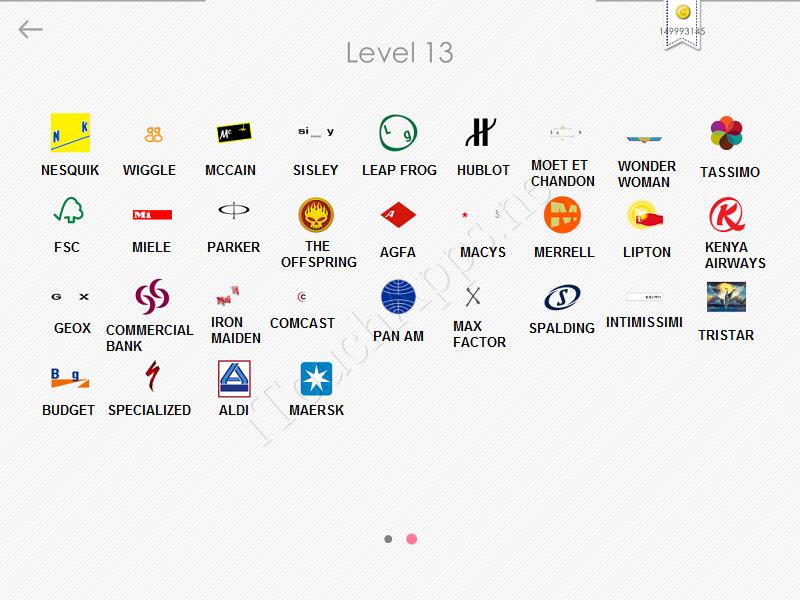 logos quiz answers: level 13 part 2
