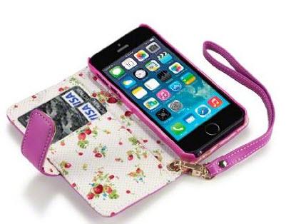 iPhone 5S Premium Faux Leather Wallet