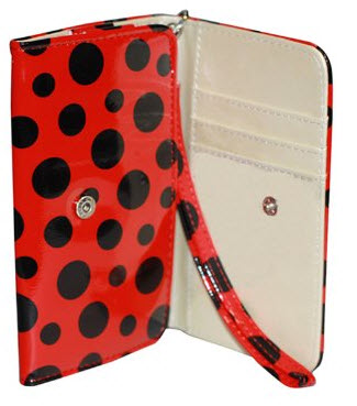 Nccypo Universal Polka Dots Leather Case